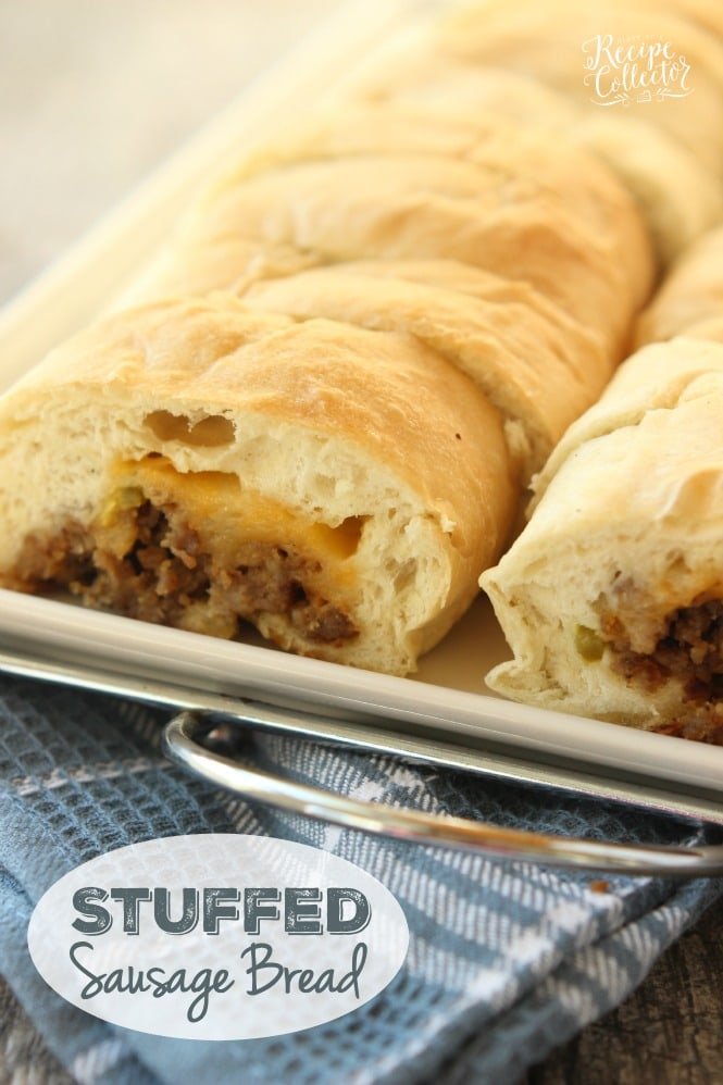 Stuffed Sausage Bread Diary Of A Recipe Collector