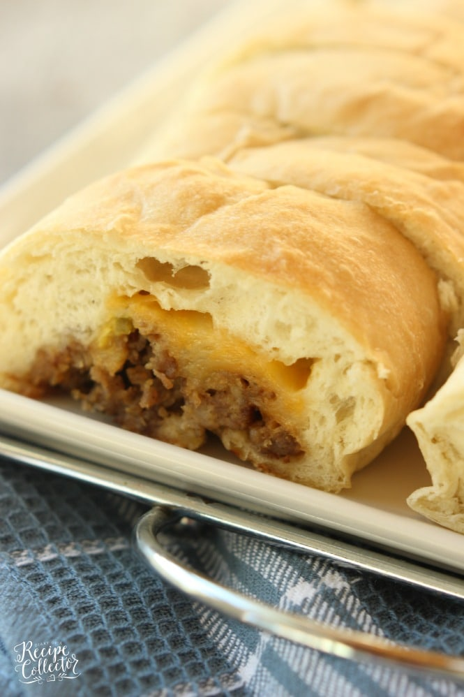 Stuffed Sausage Bread - This is an appetizer that is such a crowd-pleaser! It starts with frozen bread dough and is filled with breakfast sausage, cheese, and jalapenos. Everyone LOVES it!