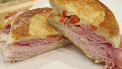 Turkey, Ham, Roasted Red Pepper Paninis