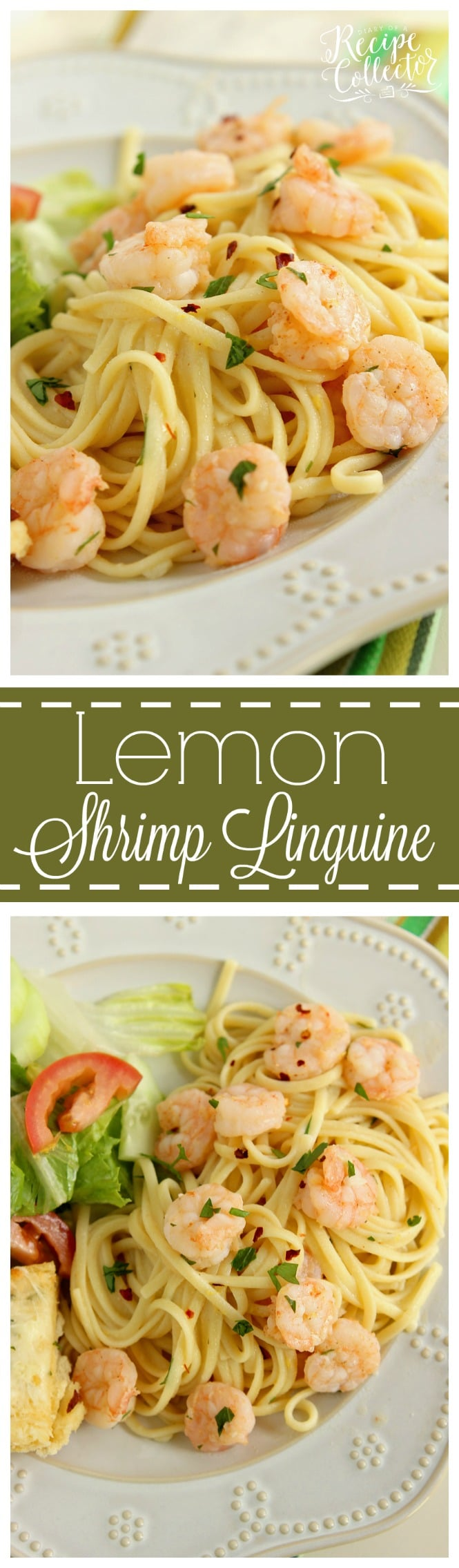 Lemon Shrimp Linguine Diary Of A Recipe Collector