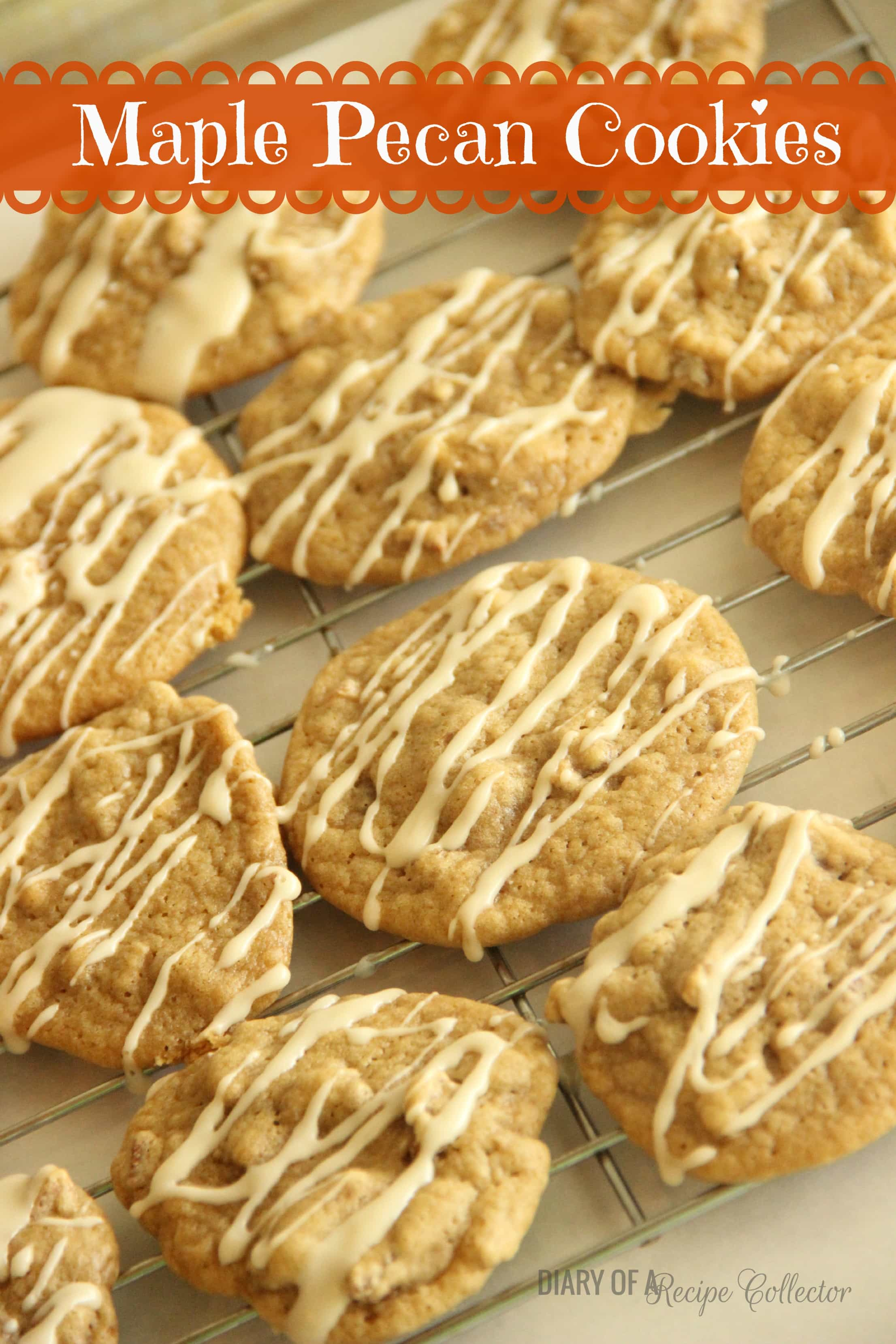 Maple Pecan Cookies - Diary of A Recipe Collector