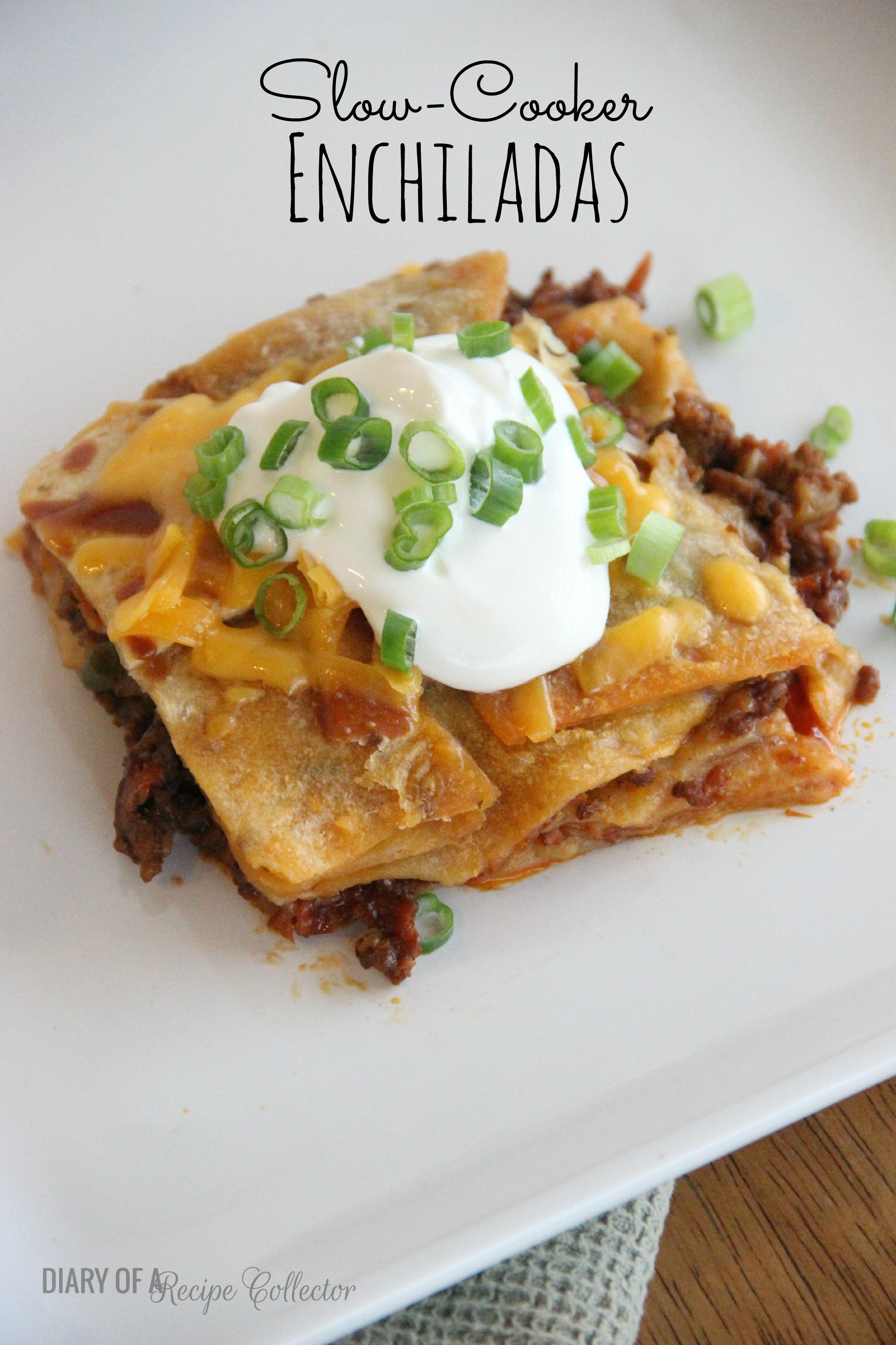 Crockpot Chicken Fajita Burritos - Diary of A Recipe Collector
