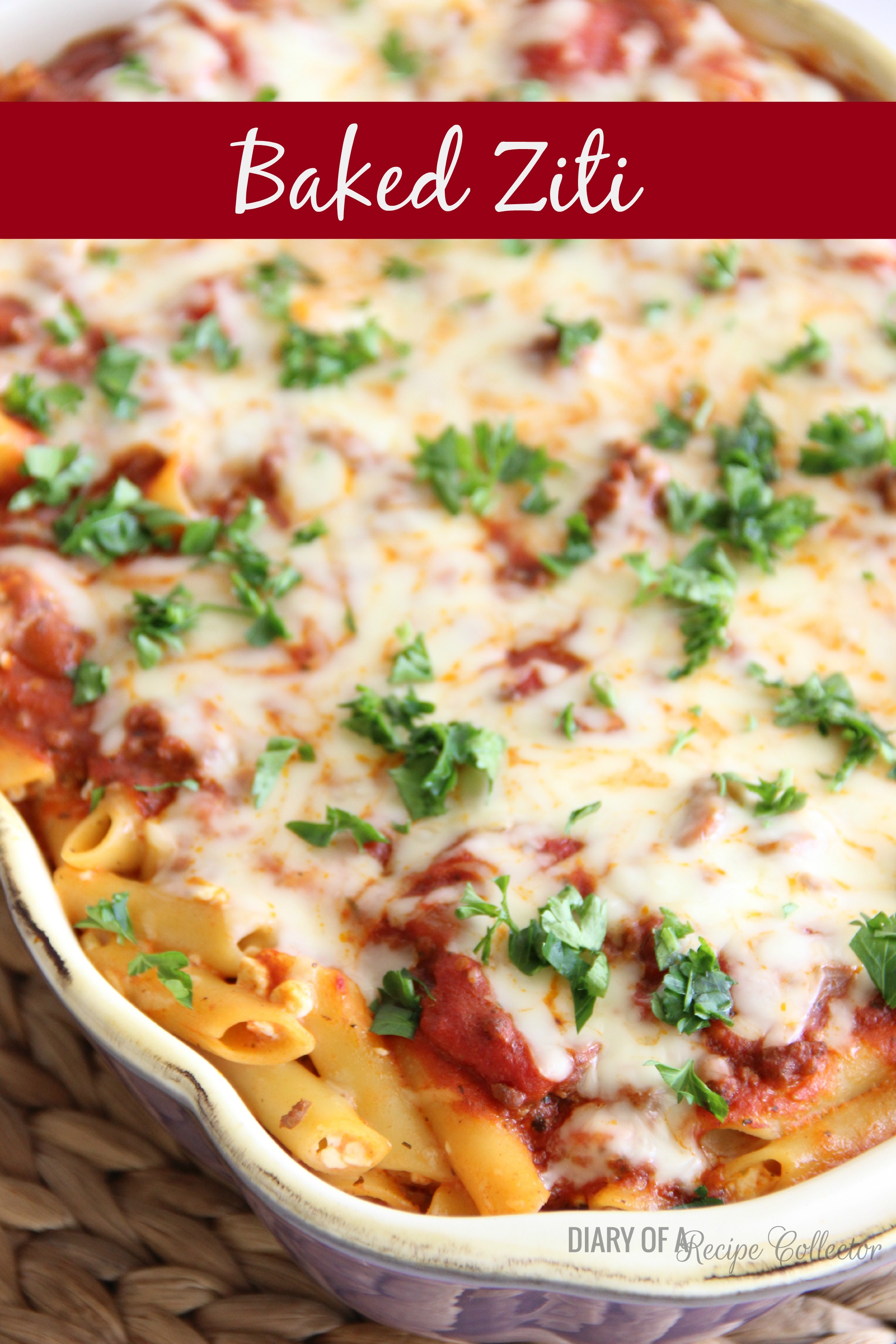 Baked Ziti - Diary of A Recipe Collector