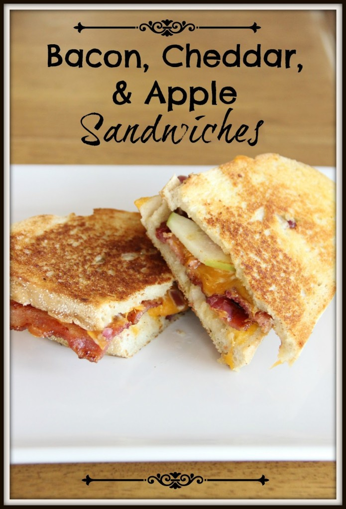 Bacon, Cheddar, and Apple Sandwiches
