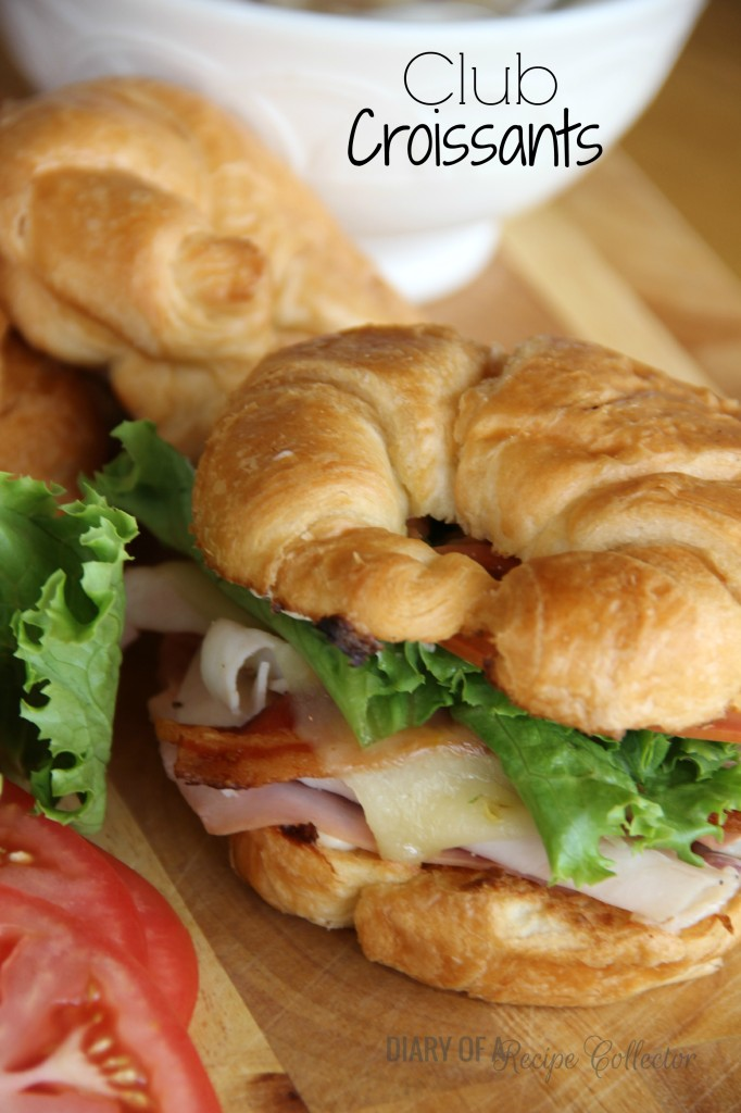 Club Croissants with Roasted Red Onion Mayo