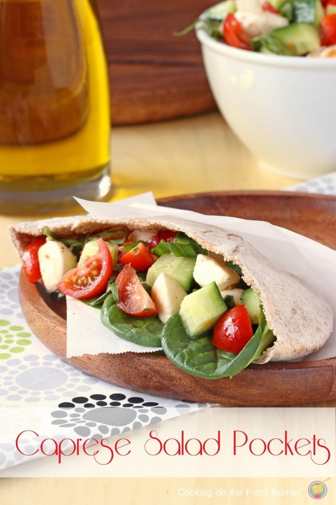 Caprese Salad Pockets by Cooking on the Front Burner