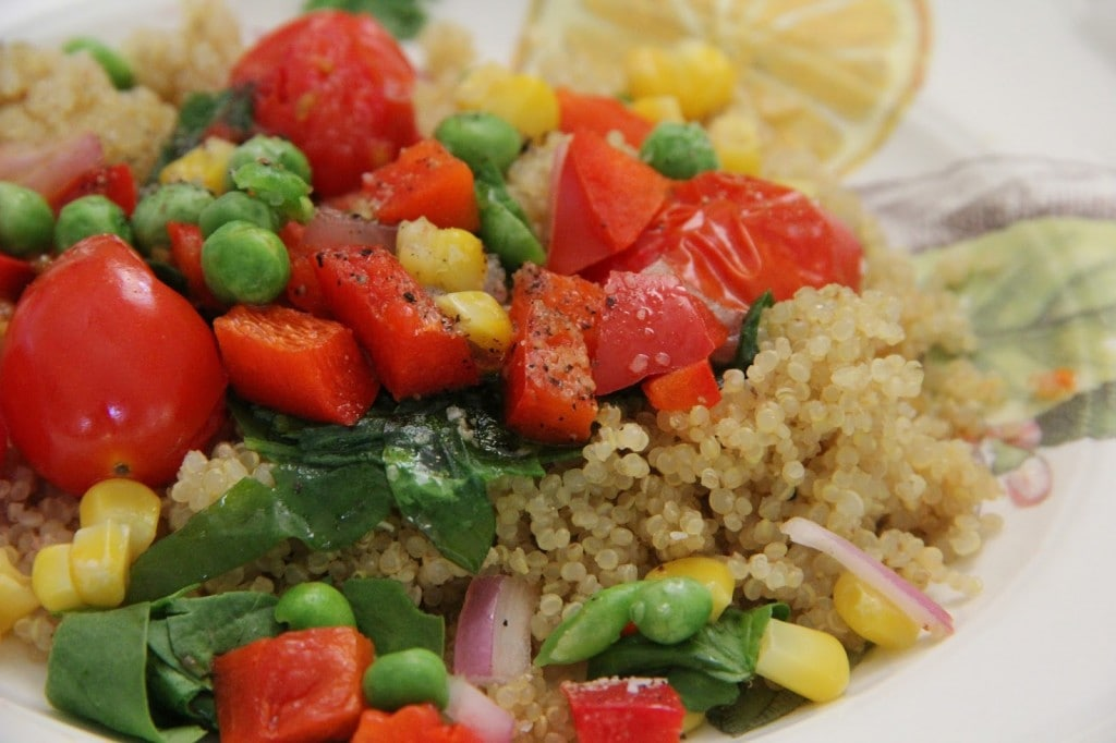 Veggie Quinoa or Rice Bowl by Mix and Match Mama