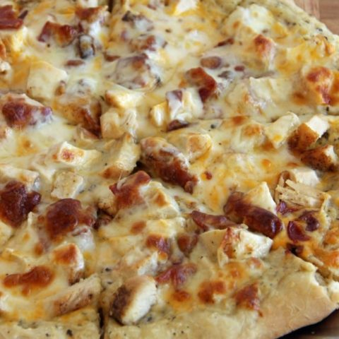 Grilled Chicken & Bacon Pizza