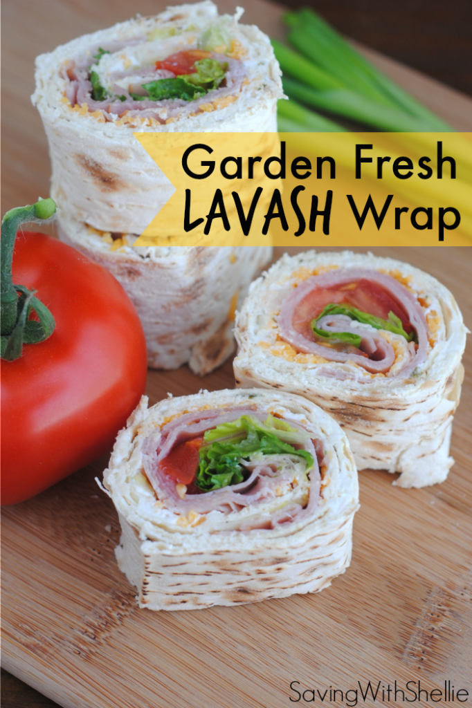 Garden Fresh Lavash Wrap by Saving with Shellie