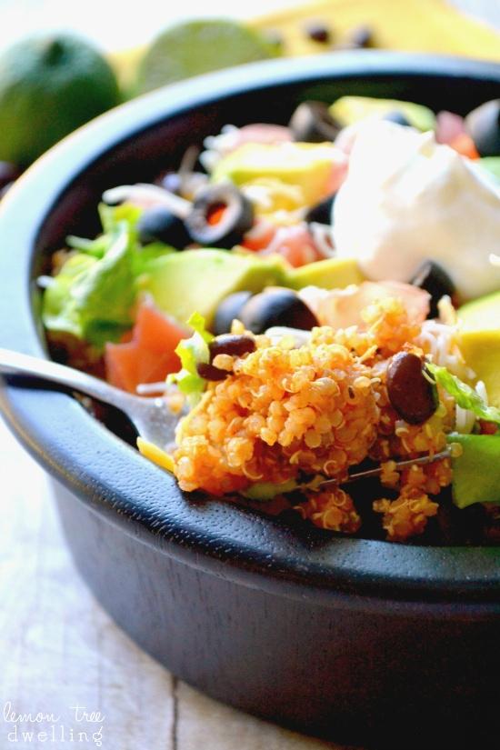 Quinoa Taco Bowl by Lemon Tree Dwelling
