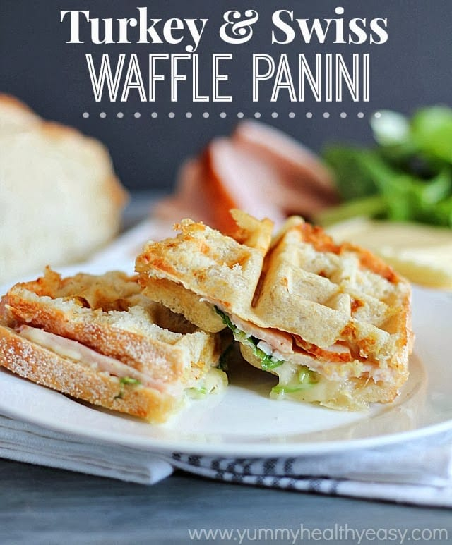 Turkey Swiss Waffle Panini by Yummy Healthy Easy