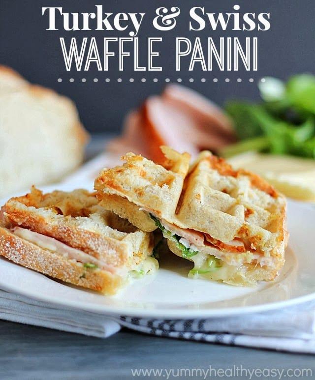 Turkey Swiss Waffle Panini by Yummy Healthy Easy