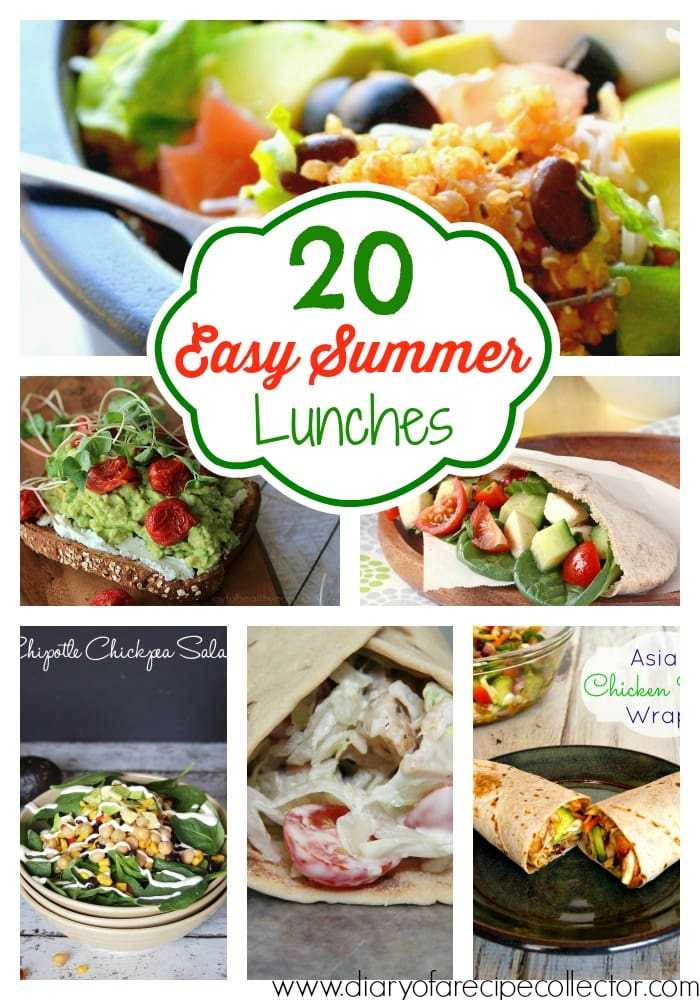 20 Easy Summer Lunches Roundup by Diary of a Recipe Collector