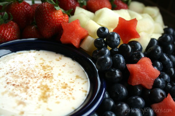 Healthy Sugared Vanilla Yogurt Fruit Dip