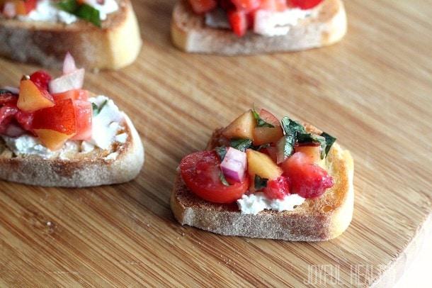 Strawberry-Nectarine-Bruschetta-Joyful Healthy Eats