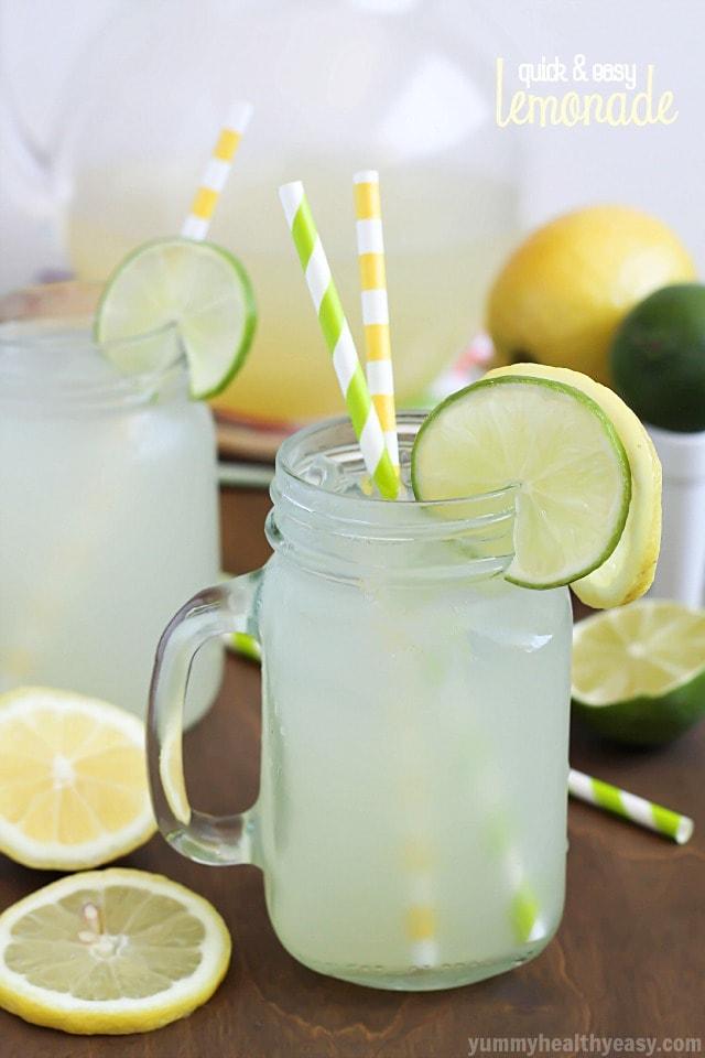 Easy Lemonade - Yummy Healthy Easy