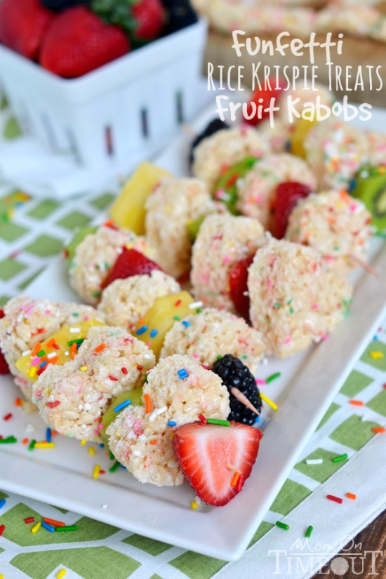 funfetti-rice-krispies-treats-fruit-kabobs - Mom on Timeout