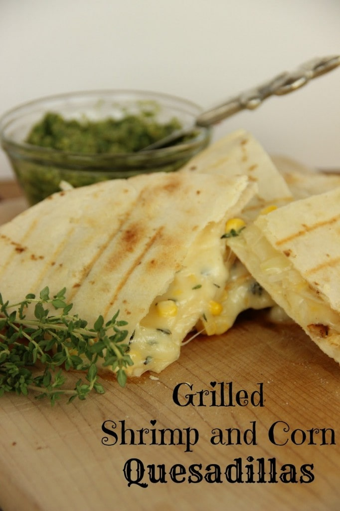 Grilled Shrimp and Corn Quesadillas