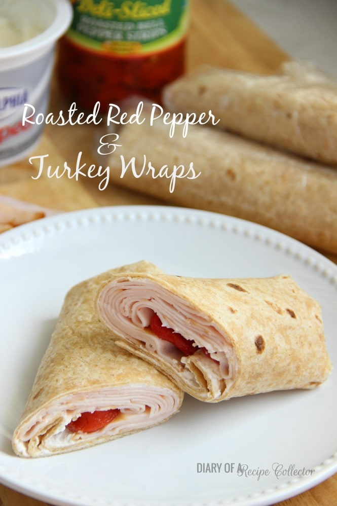Roasted Red Pepper and Turkey Wrap