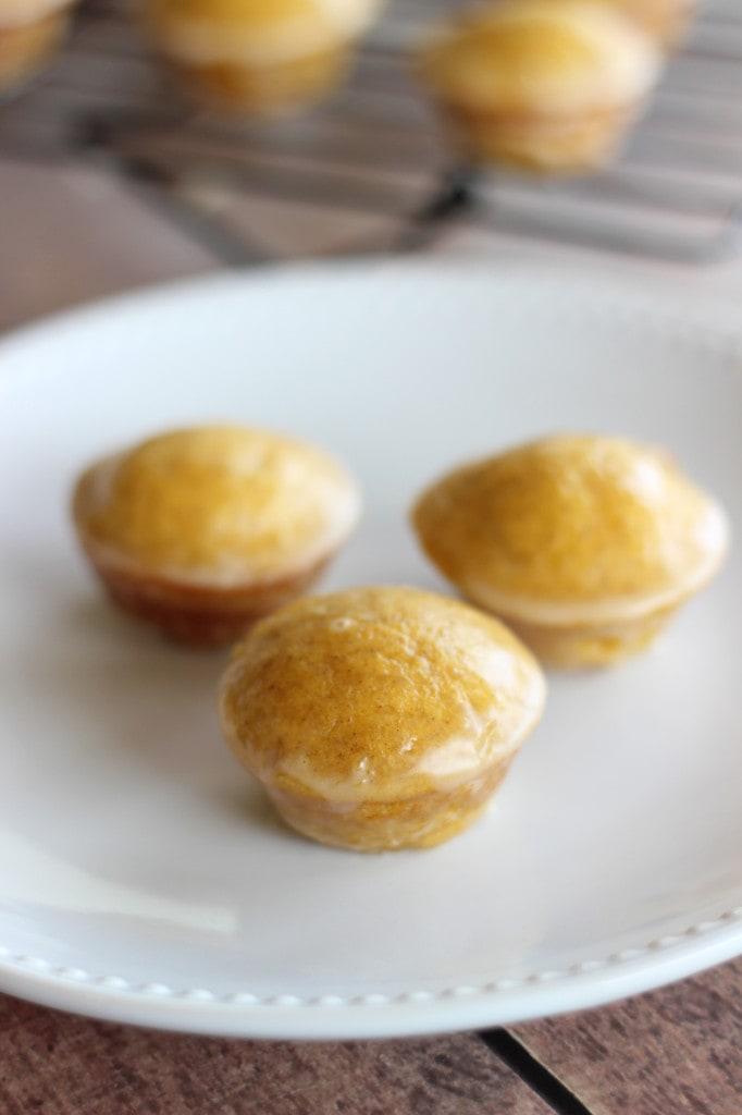 Mini Maple-Glazed Pumpkin Muffins