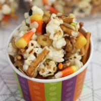 Gooey Halloween Popcorn Crunch