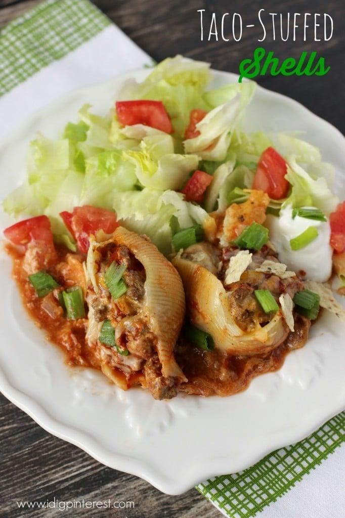Taco-Stuffed Pasta Shells1