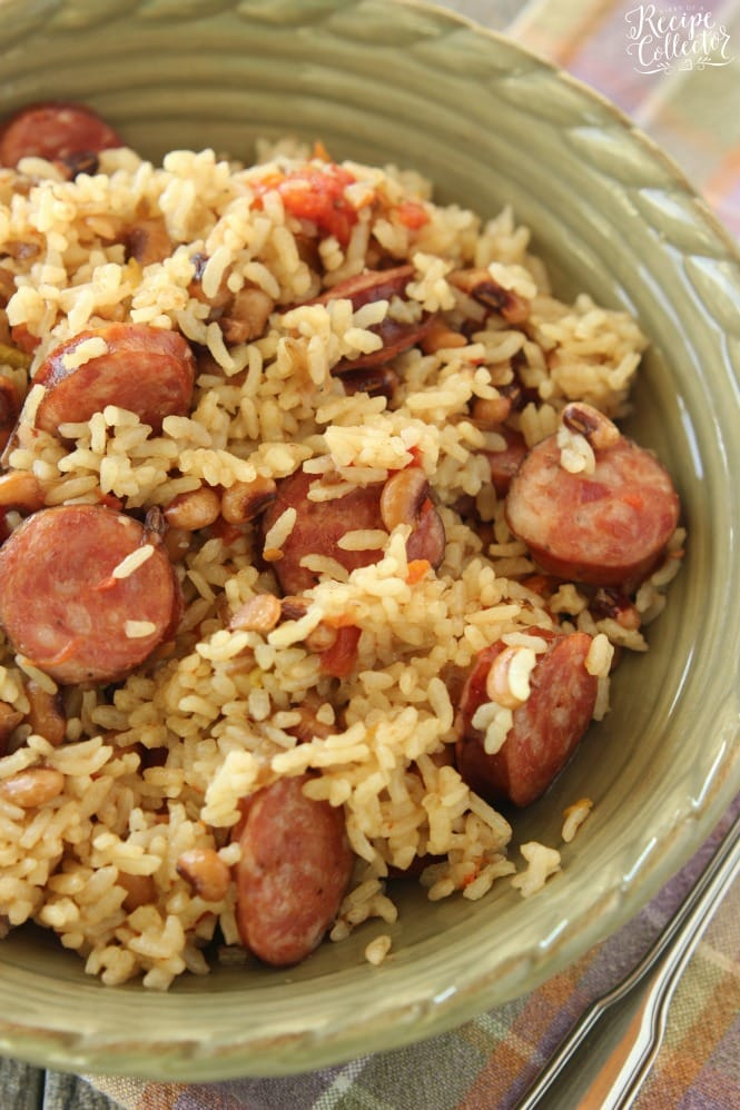 Rice cooker sausage jambalaya diary of a recipe collector rice cooker sausage jambalaya an easy one pot rice dish filled with sausage and black forumfinder Gallery