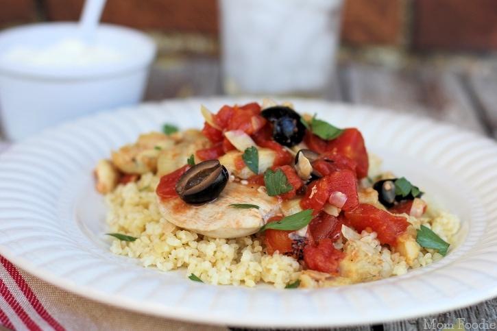 chicken-artichokes-olives-tomato-bulgur-recipe