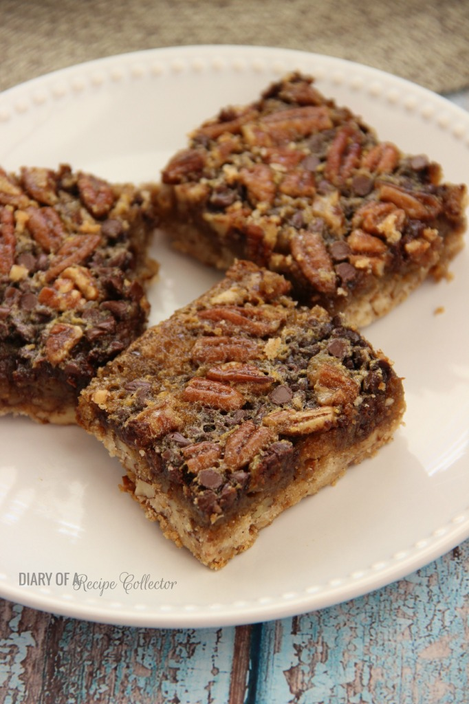 Chocolate Pecan Pie Cookie Bars   Diary of a Recipe Collector