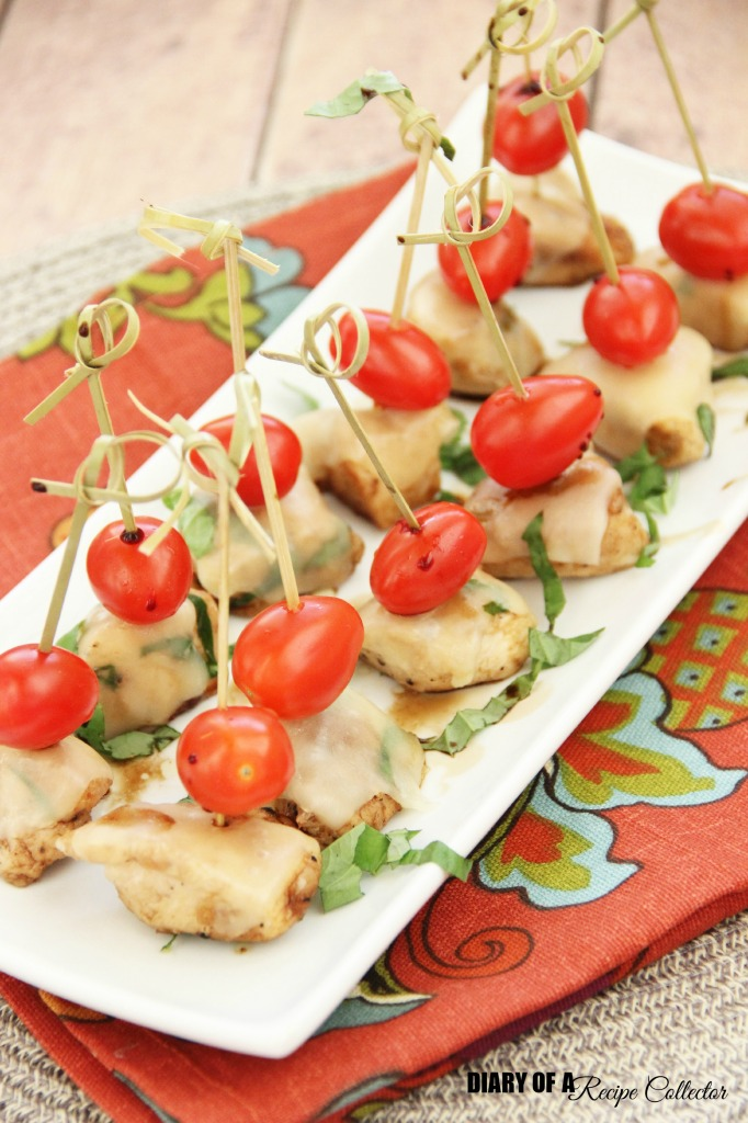 Chicken Caprese Bites | Diary of a Recipe Collector