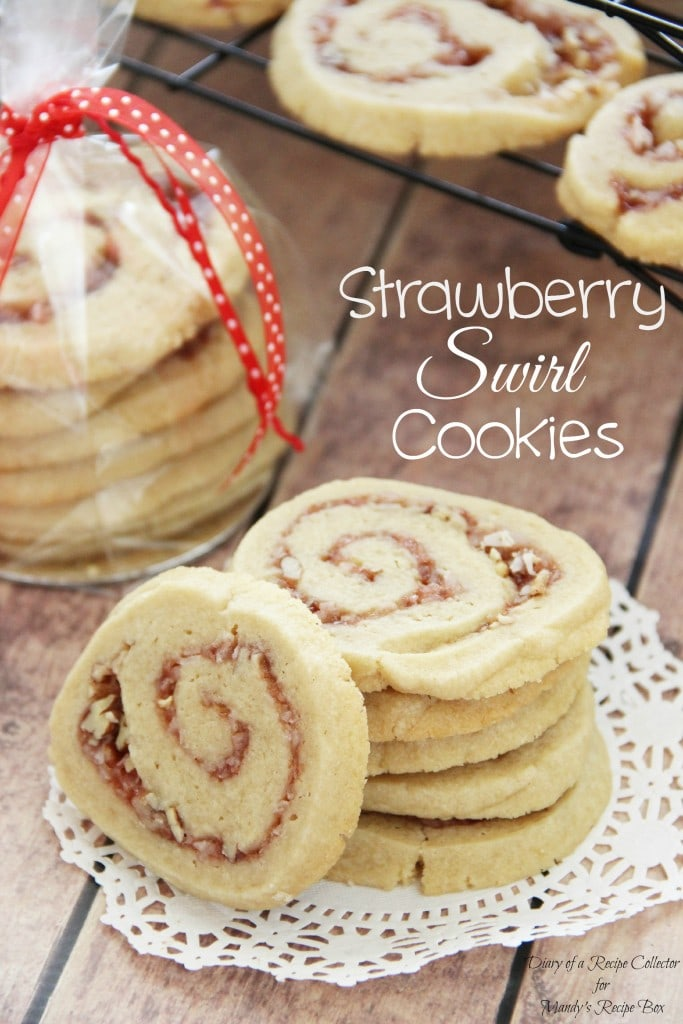 Strawberry Swirl Cookies | Diary of a Recipe Collector