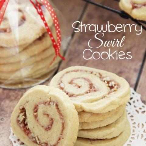 Strawberry Swirl Cookies
