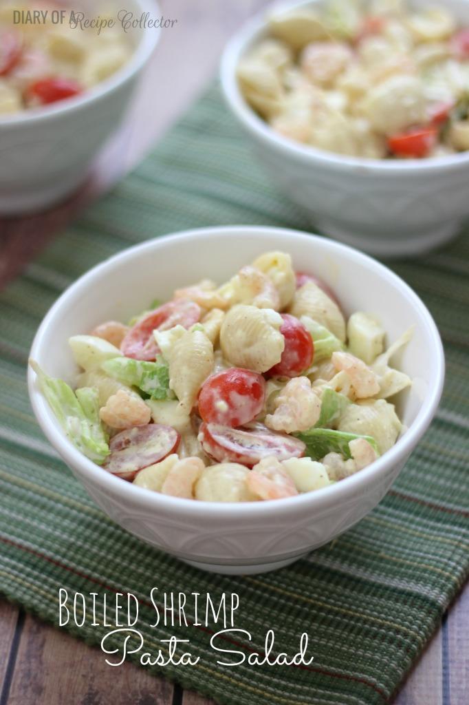 Boiled Shrimp Pasta Salad