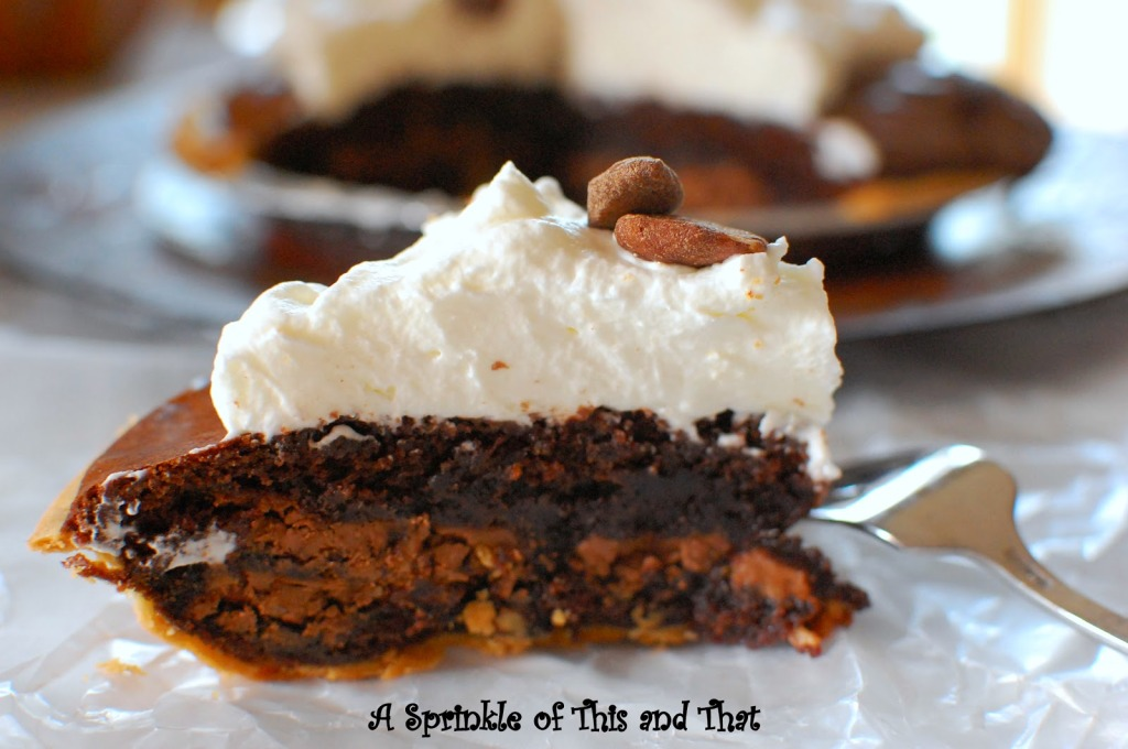 brownie pie with almond whipped cream-002