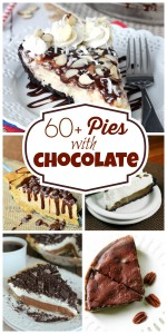 chocolate pie collage