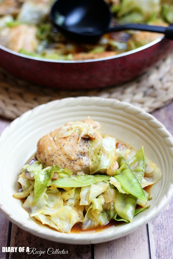 Smothered Chinese Chicken and Cabbage