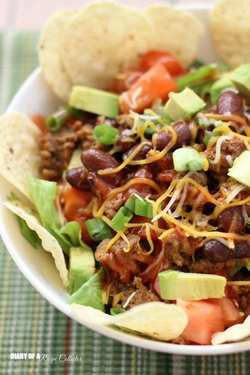 Easy Taco Salad | Diary of a Recipe Collector