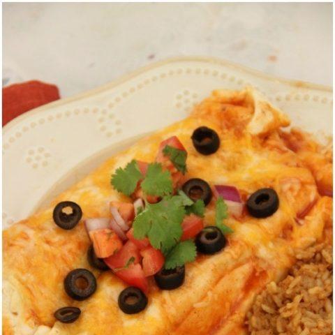 Crockpot Chicken Fajita Burritos