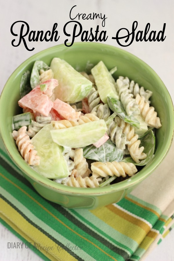 Creamy Ranch Pasta Salad - Diary of a Recipe Collector