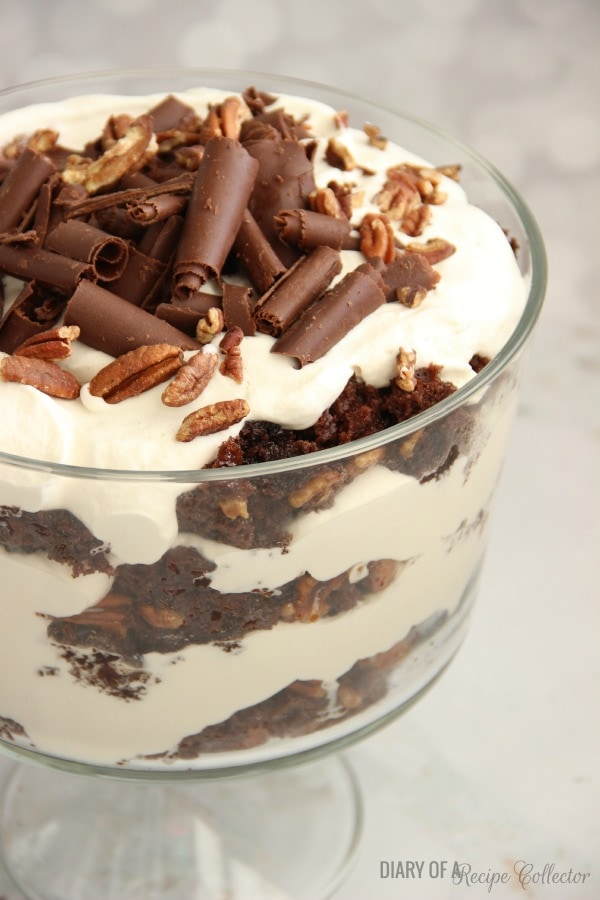 Chocolate Praline Trifle - Diary of a Recipe Collector