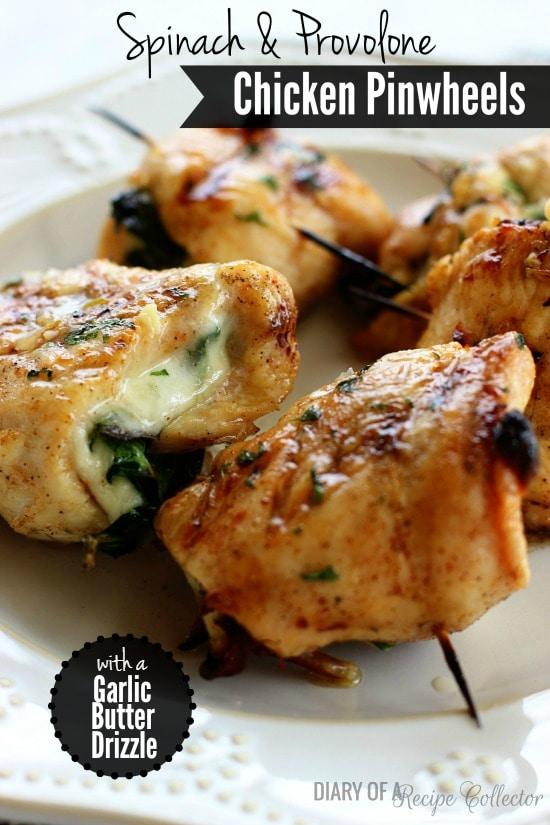 Provolone & Spinach Chicken Pinwheels