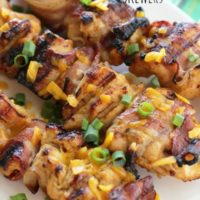 Honey Mustard Chicken & Bacon Skewers