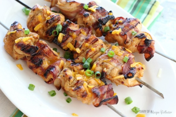 Honey Mustard Chicken & Bacon Skewers - Diary of a Recipe Collector