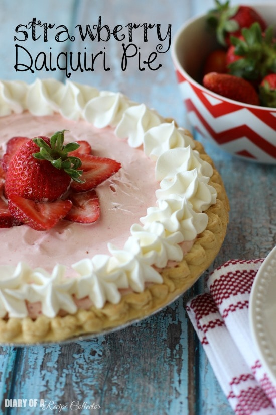 Strawberry Daiquiri Pie - Diary of a Recipe Collector