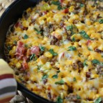 Baked Corn & Sausage Dip - Diary of a Recipe Collector