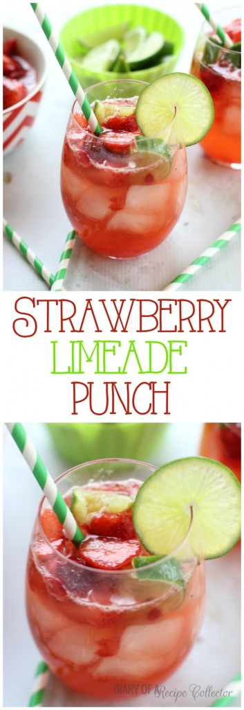 Strawberry Limeade Punch - Diary of a Recipe Collector