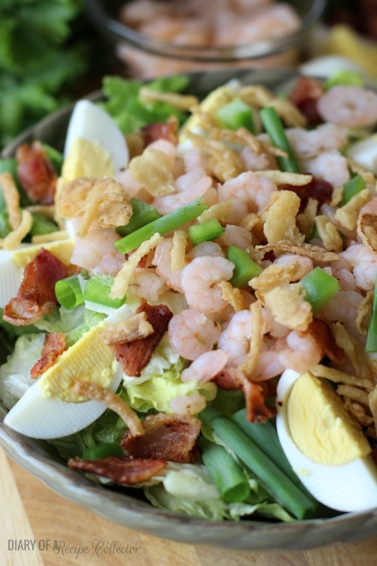 Cajun Shrimp Cobb Salad | Diary of a Recipe Collector