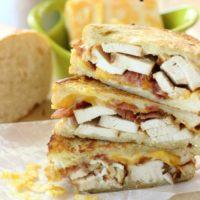 Garlic Cream Grilled Chicken & Bacon Paninis