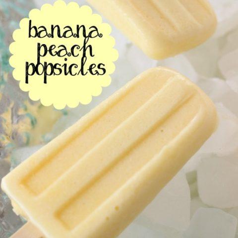 Banana Peach Popsicles - Made with banana pudding!!