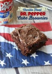 Dr. Pepper Vanilla Float Cake Brownies